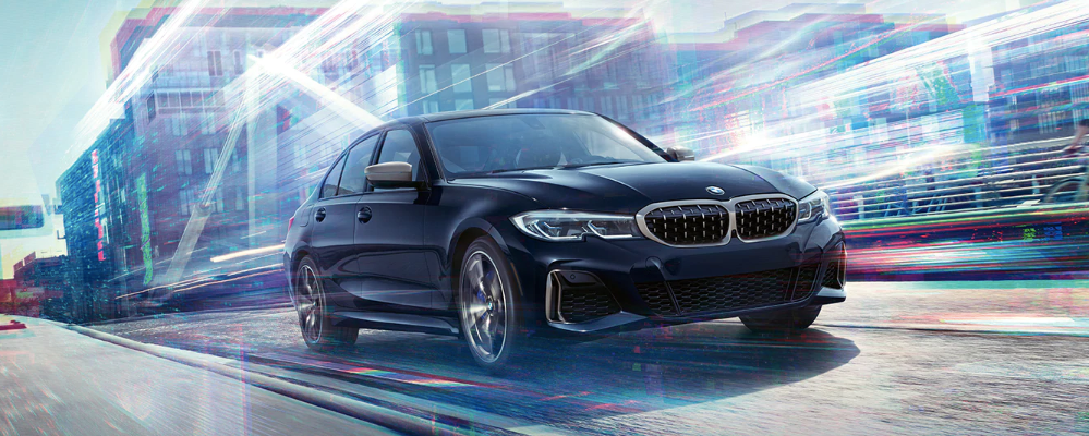BMW 3 Series on the road
