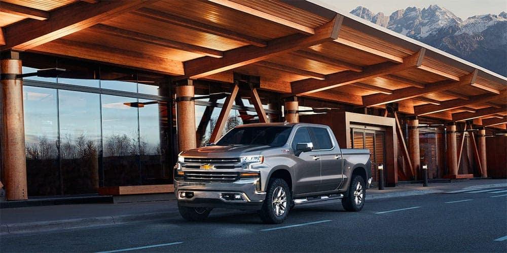 2019-Chevrolet-Silverado-Exterior-Driving-Down-Street