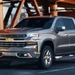 2020 Chevrolet Silverado by curb