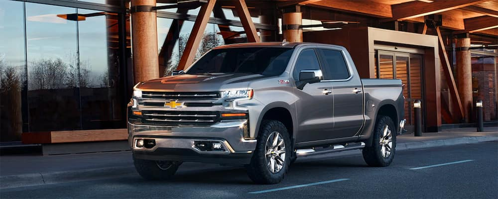 2020 Chevrolet Silverado by curb