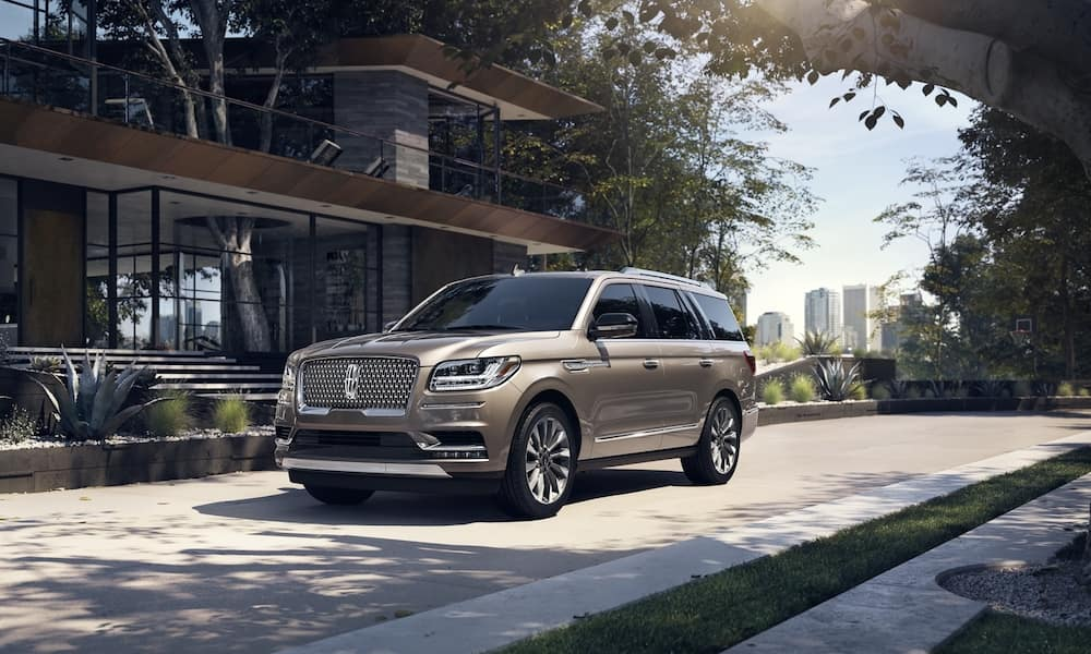 2020 Lincoln Navigator parked by a house