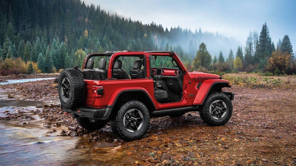 2020 Jeep Wrangler Rubicon parked by the water