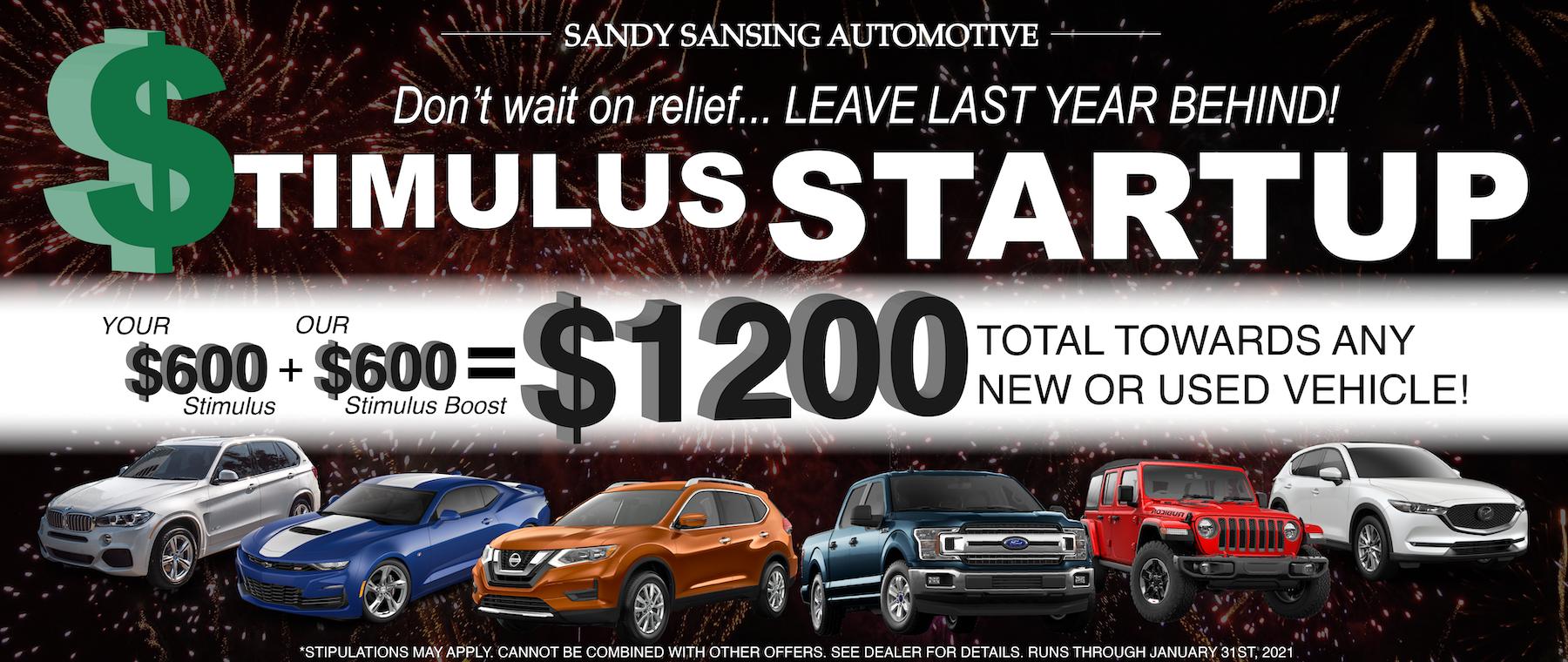Stimulus Boost multiple vehicles