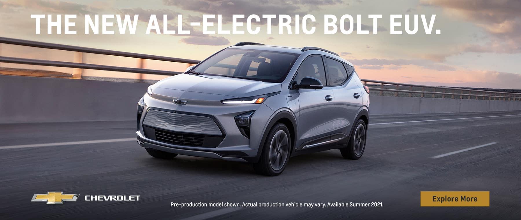 Silver 2021 Chevrolet Bolt EV