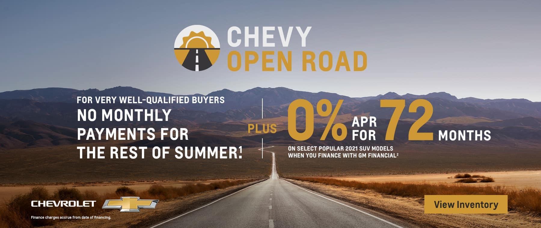 2021 Chevy Open Road
