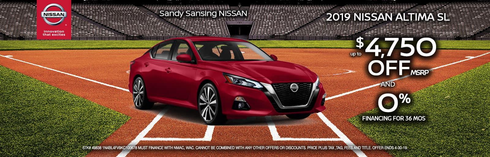 Sandy Sansing Nissan Pensacola FL Altima
