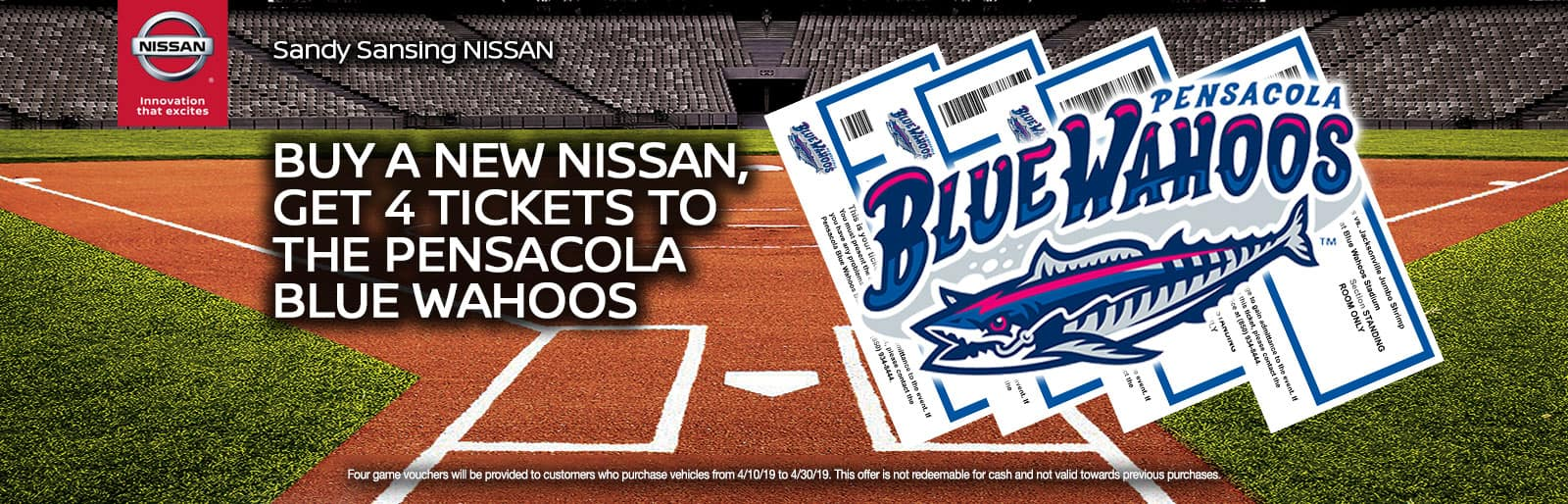 Sandy Sansing Nissan Pensacola FL Pensacola Blue Wahoos