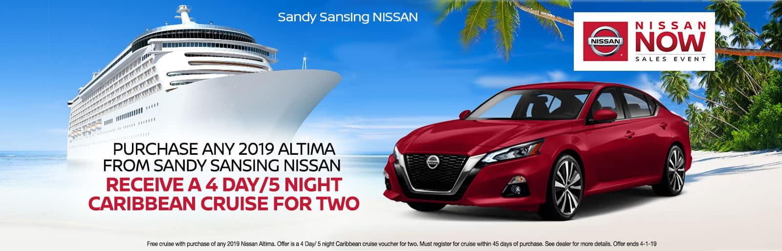 Sandy Sansing Nissan Pensacola FL Altima Cruise Special