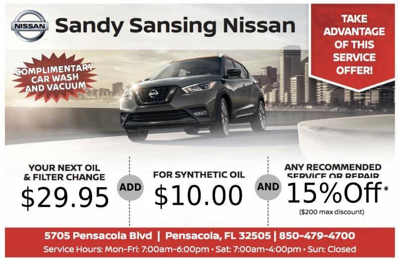 Pensacola and Daphne, AL Service Specials | Sandy Sansing Nissan