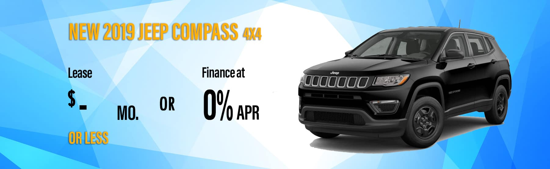 2019 Compass $-/month - Security Dodge Lease & Loan Deals