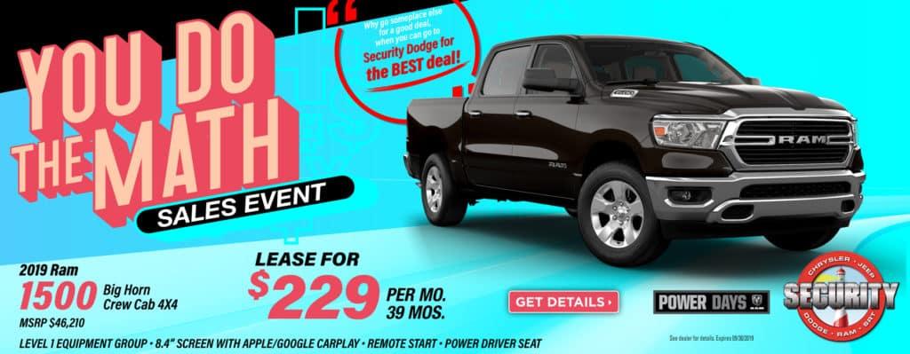 ram 1500 big horn lease deals