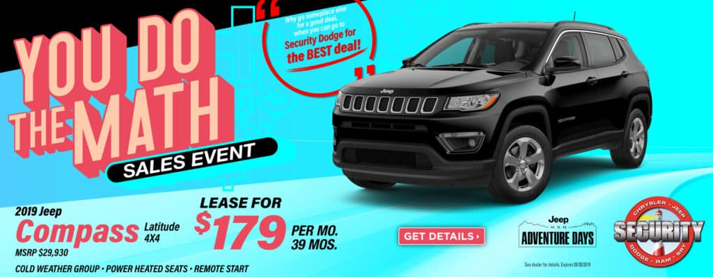 2019 Jeep Compass Latitude Lease Specials In Amityville