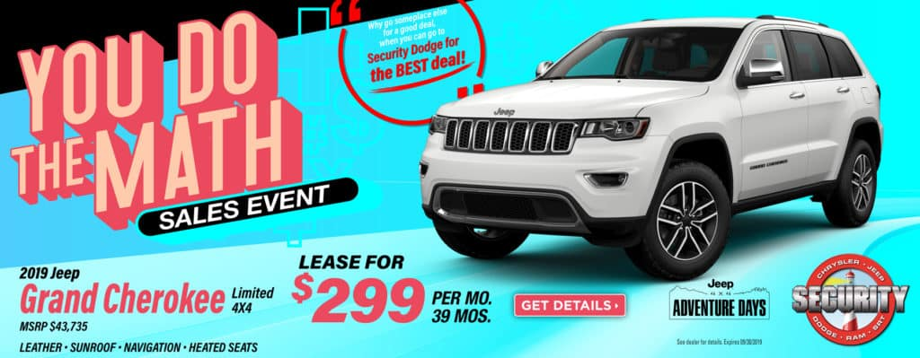 2019 Jeep Grand Cherokee Limited Lease Specials
