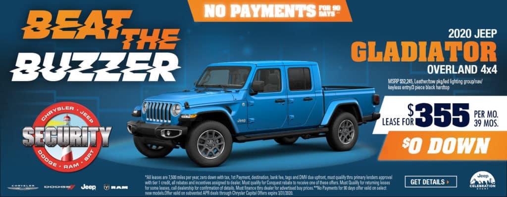 2020 Jeep Gladiator Overland 4x4 Security Dodge Chrysler Jeep Ram