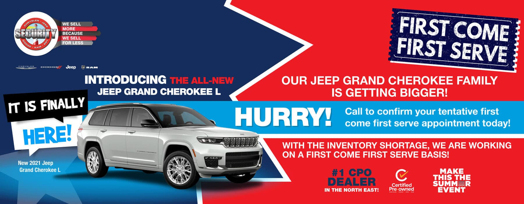 First Come First Serve Jeep Grand Cherokee