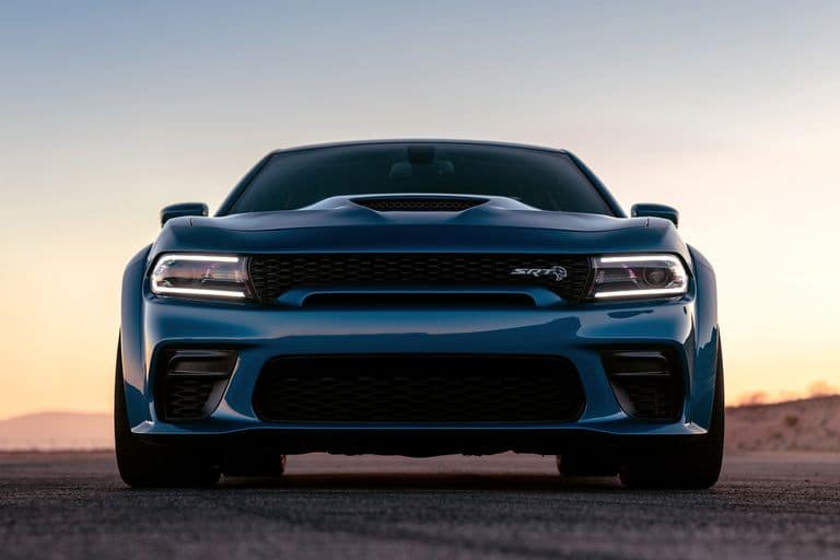 Blue 2020 Dodge Charger on track near Shaver CDJR