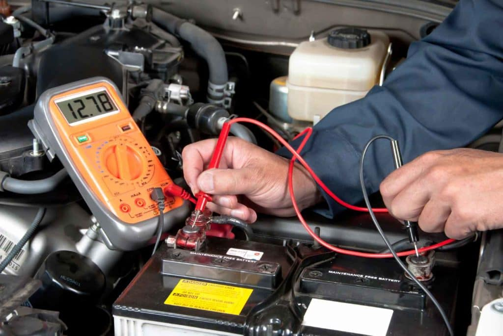 car battery service at Shaver CDJR's service department