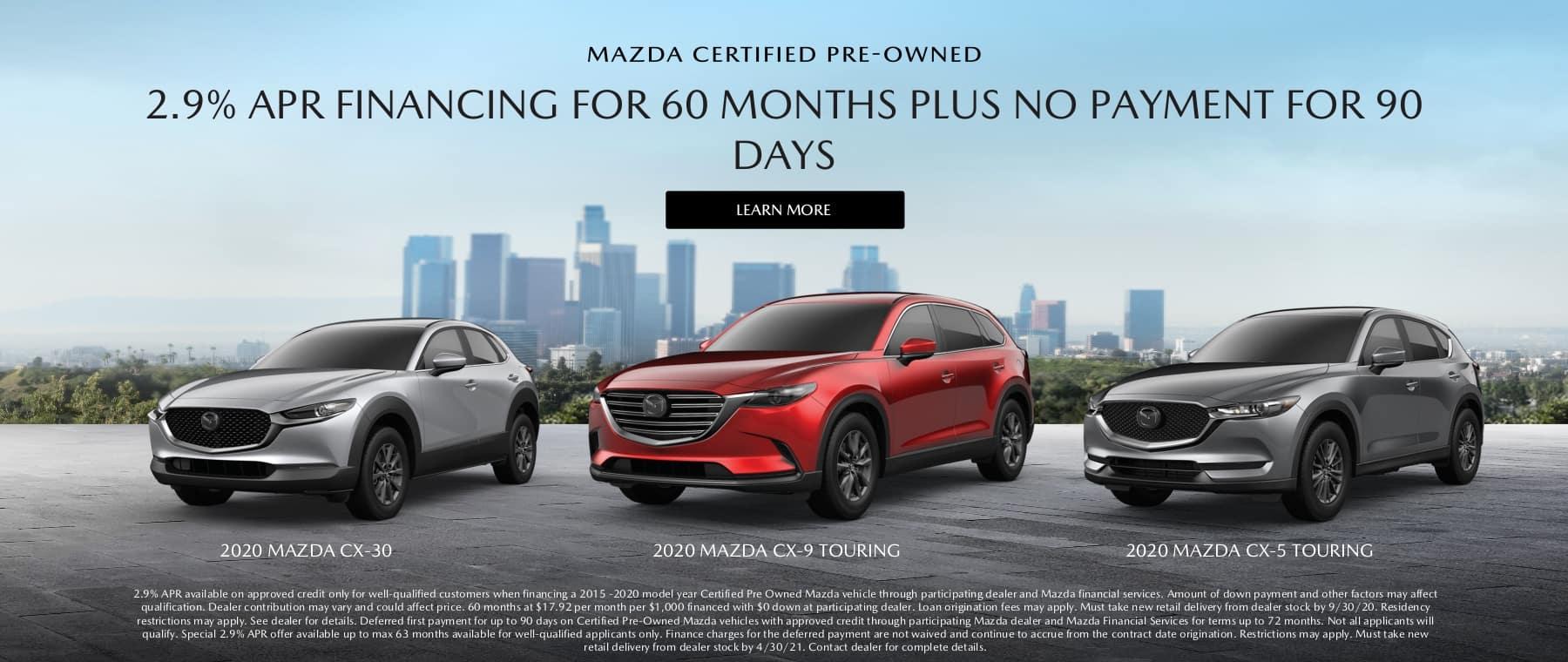 Towne Mazda CPO Slider April 2021