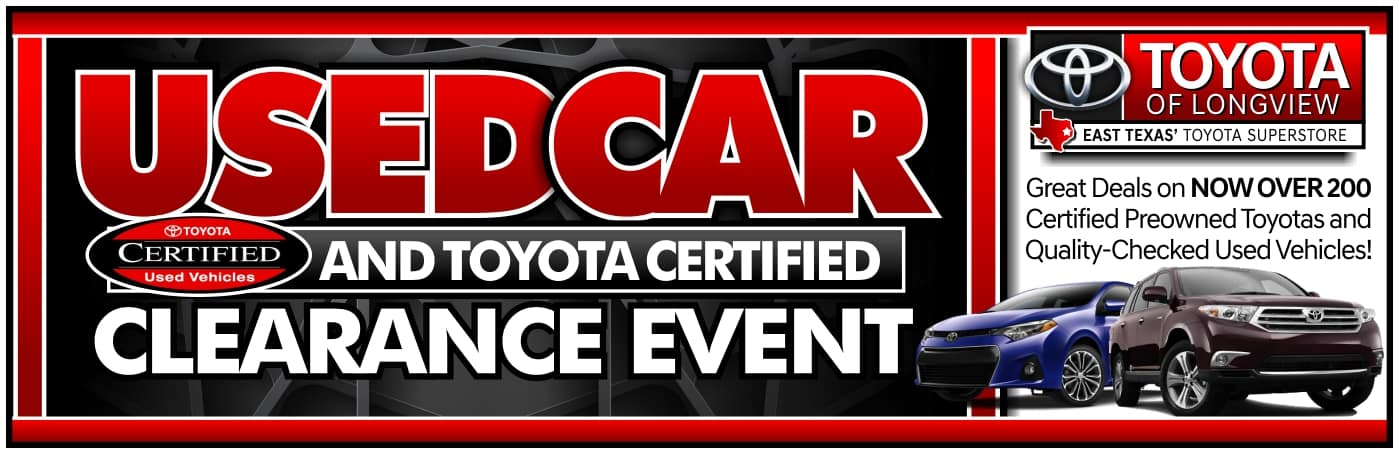 TOL Used Car Clearance Event -Website Banner