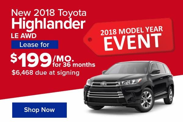 New 2018 Toyota Highlander LE AWD