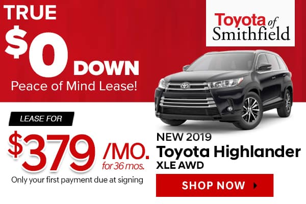 New 2019 Toyota Highlander XLE AWD