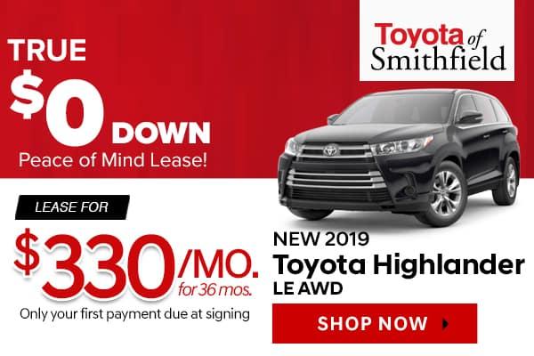 New 2019 Toyota Highlander LE AWD