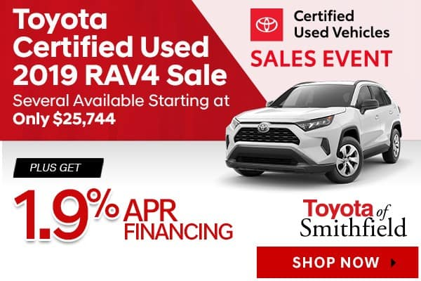 Certified Used Toyota >> Toyota Certified Used Vehicle Specials Toyota Of Smithfield
