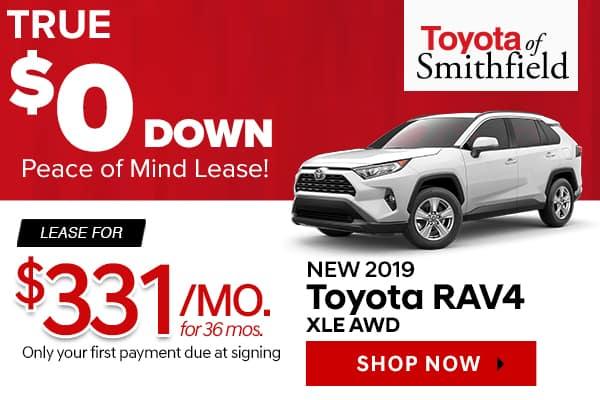 New 2019 Toyota RAV4 XLE AWD