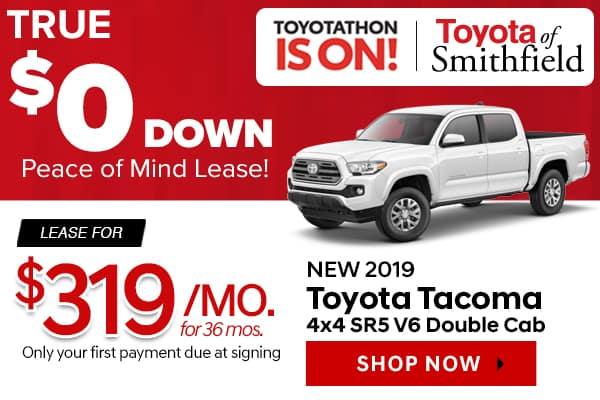 New 2019 Toyota Tacoma 4x4 SR5 V6 Double Cab