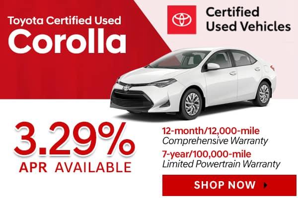 Toyota Certified Used Corolla