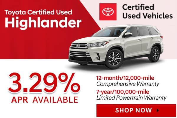 Toyota Certified Used Highlander