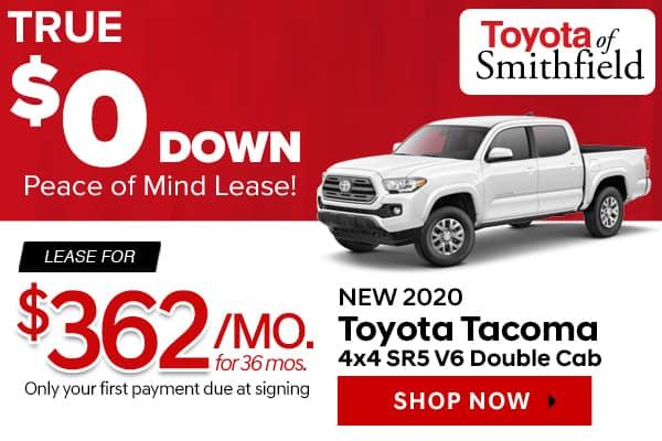 New 2020 Toyota Tacoma 4x4 SR5 V6 Double Cab