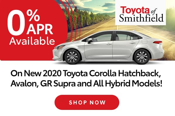 0% APR Available on New 2020 Toyota Corolla Hatchback, Avalon, Supra and All Hybrid Models