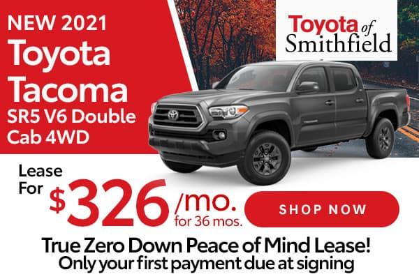 New 2021 Toyota Tacoma SR5 V6 Double Cab 4WD