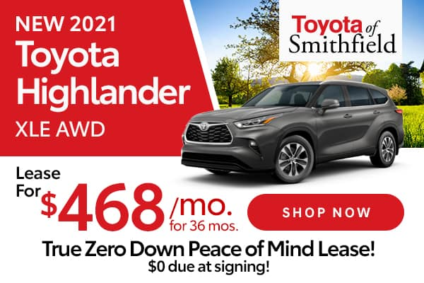 New 2021 Toyota Highlander XLE AWD