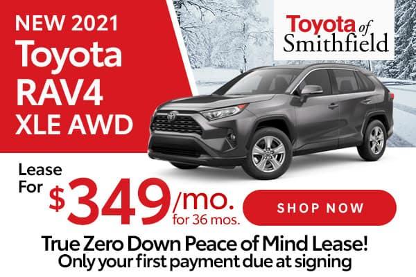 New 2021 Toyota RAV4 XLE AWD
