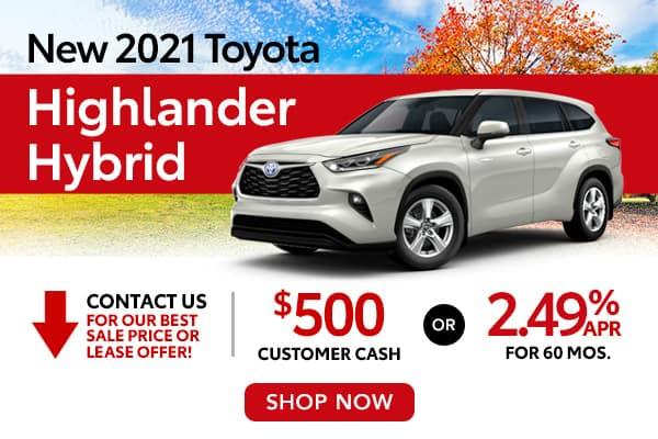 New 2021 Toyota Highlander Hybrid