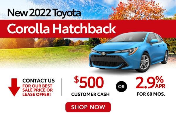 New 2022 Toyota Corolla Hatchback