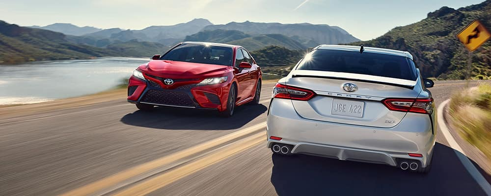 2019 Toyota Camry passing on the road