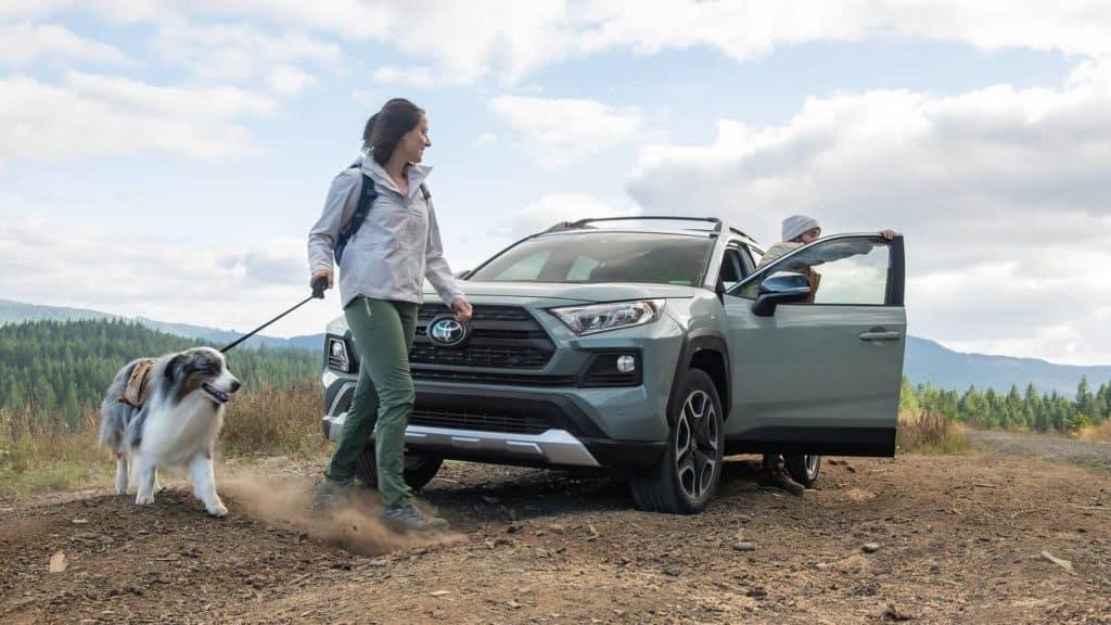 2019 Toyota RAV4 parked on trail