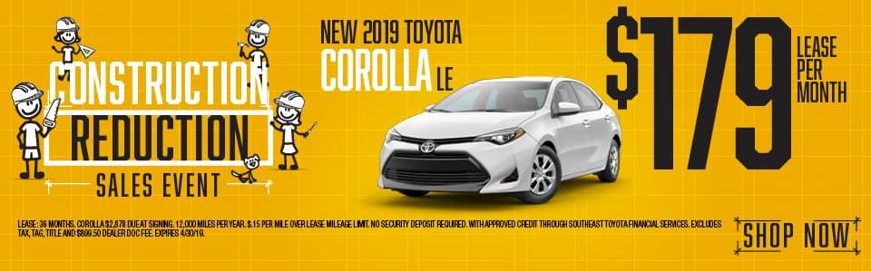 2019 Corolla LE