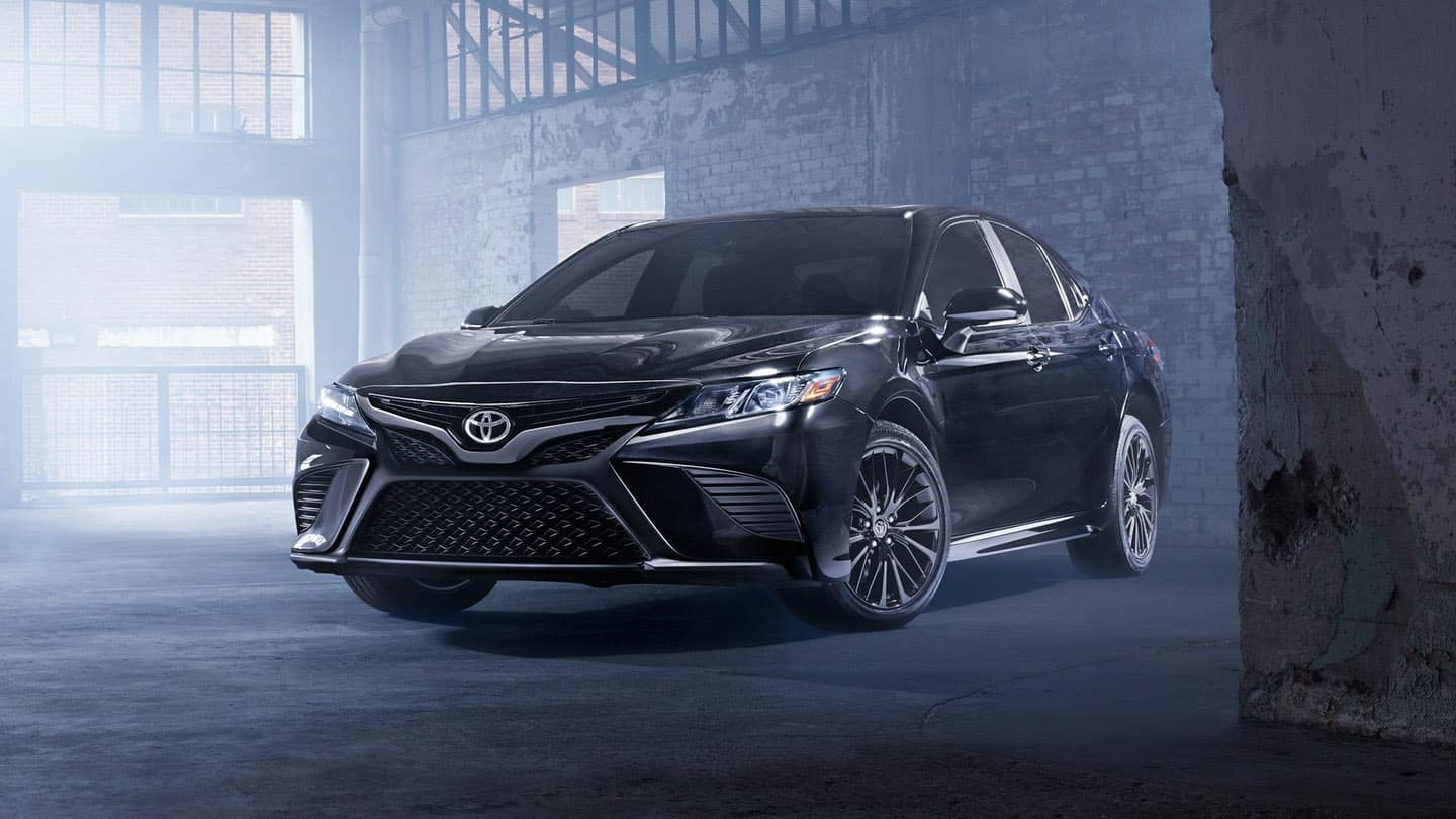 2019 Toyota Camry coming around corner