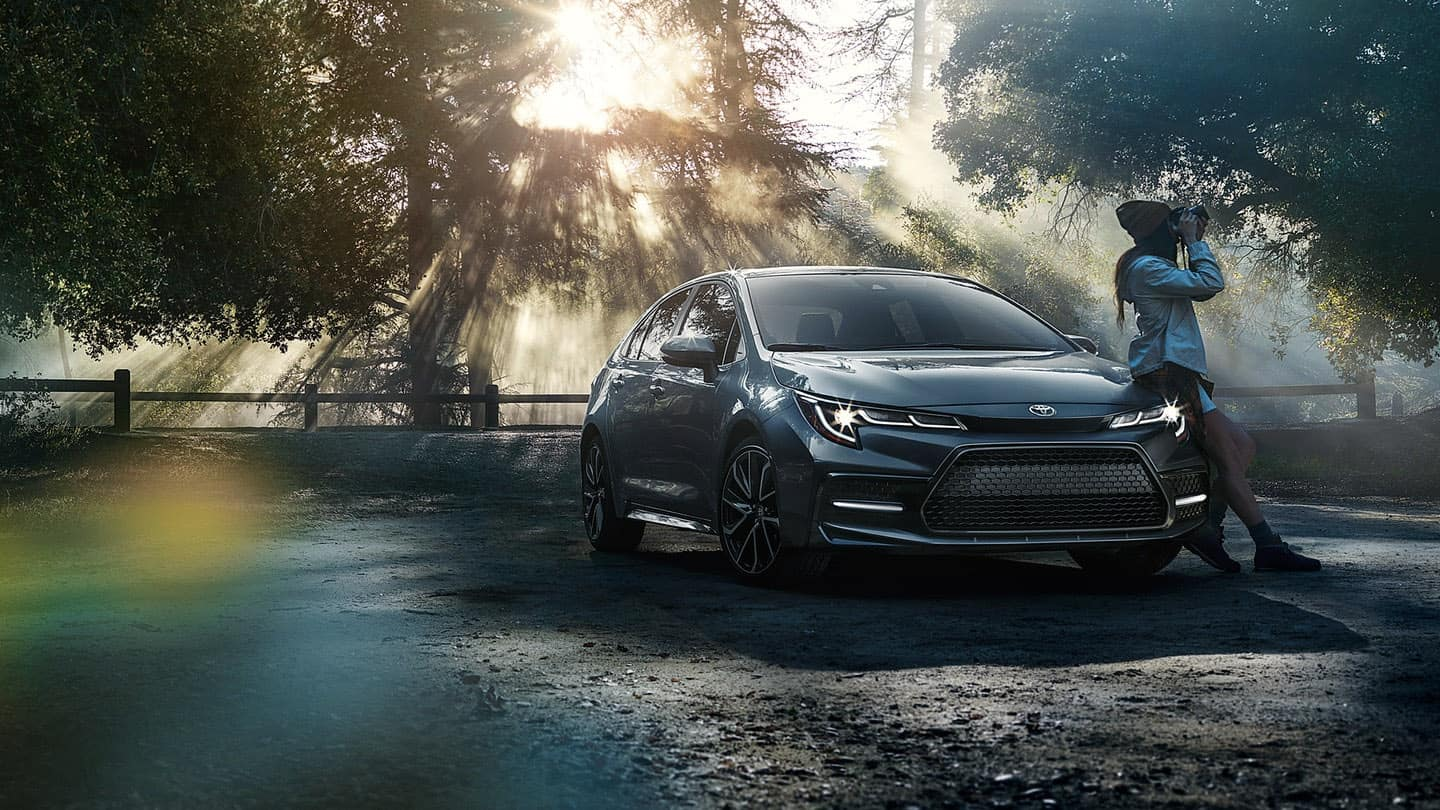 2020 Toyota Corolla in forest