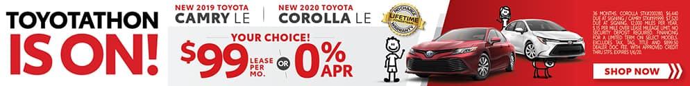 2019 Toyota Camry & 2020 Toyota Corolla