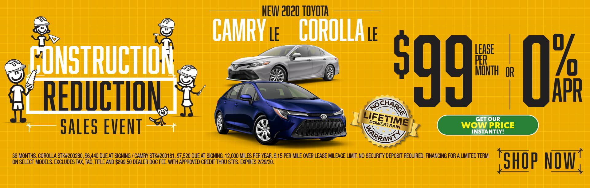 New 2020 Toyota Camry and Corolla