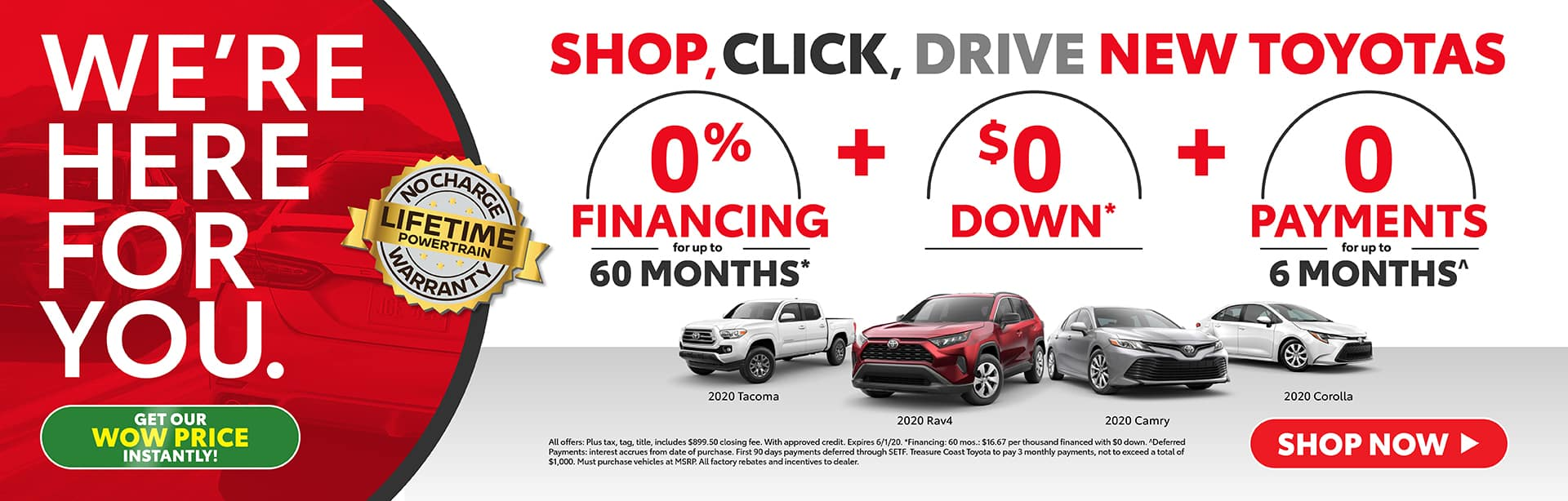 Shop, Click, Drive New Toyotas