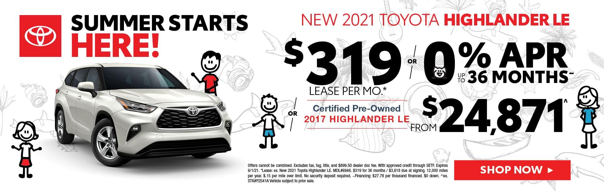 New Toyota Highlander