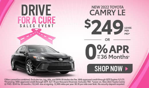 0% APR available on New 2022 Toyota Camry