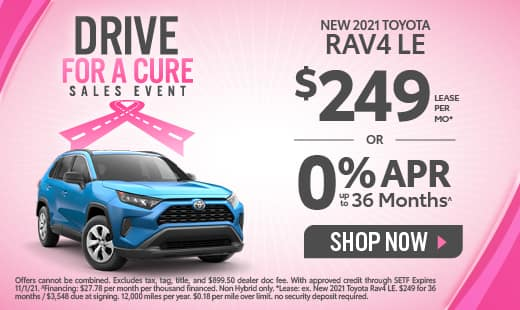 0% APR available on New 2021 Toyota RAV4