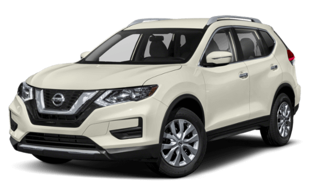 front view of 2019 Nissan Rogue white SUV